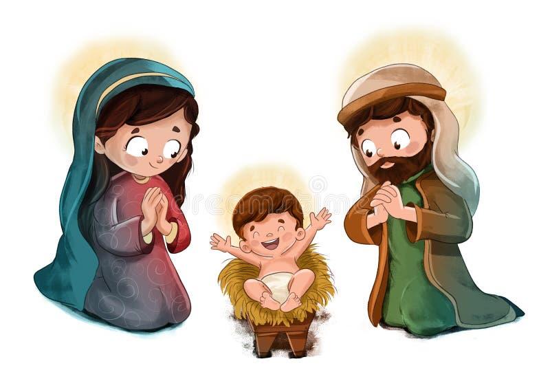 Παιδί Ιησούς με το ST Joseph και Virgin Mary στοκ φωτογραφία με δικαίωμα ελεύθερης χρήσης