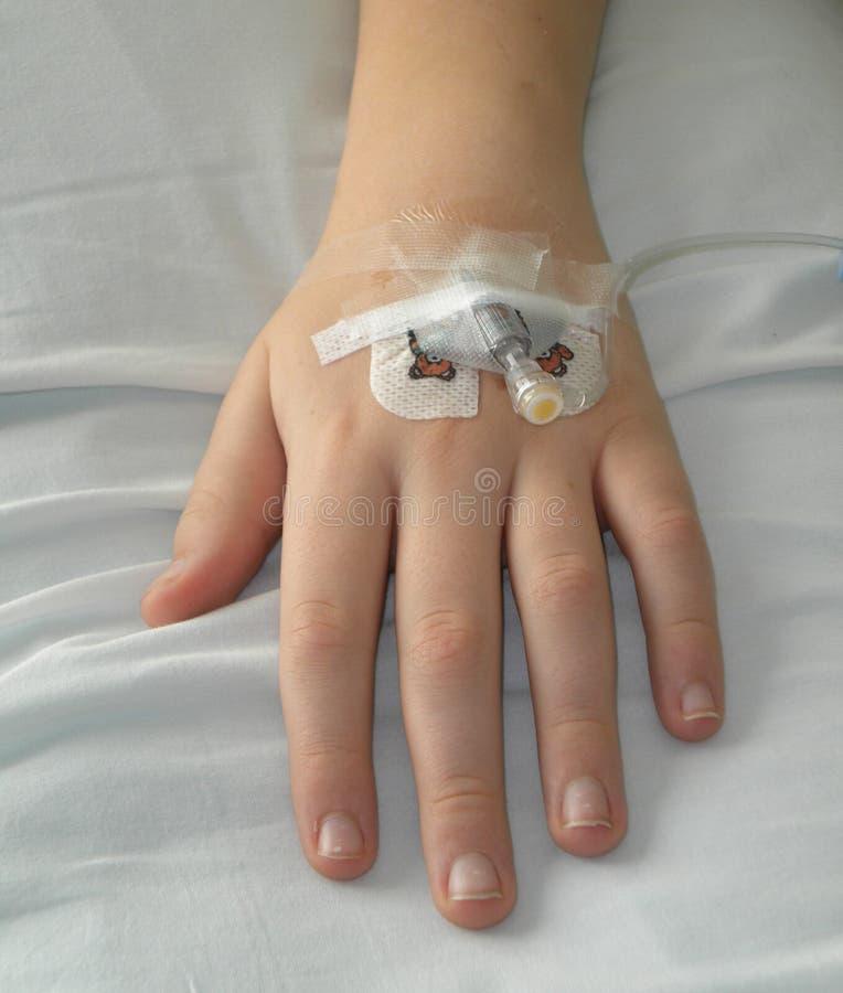 Παιδί με IV στοκ εικόνες