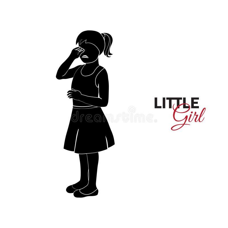 Παιδί, μωρό crying girl little απεικόνιση αποθεμάτων