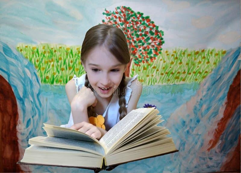 Παιδί σε ένα παραμύθι απεικόνιση αποθεμάτων
