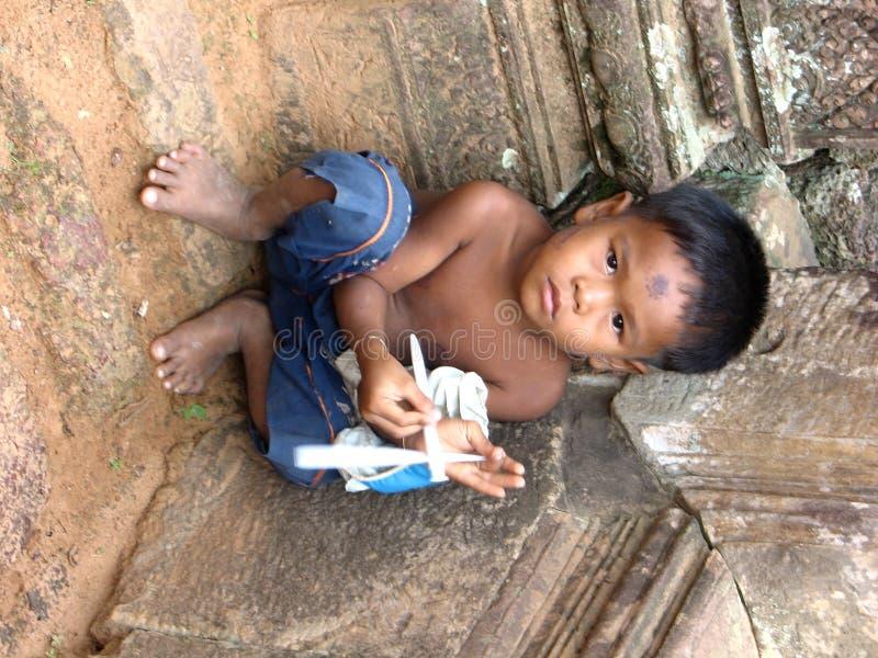 παιδί της Καμπότζης λίγα στοκ φωτογραφία με δικαίωμα ελεύθερης χρήσης