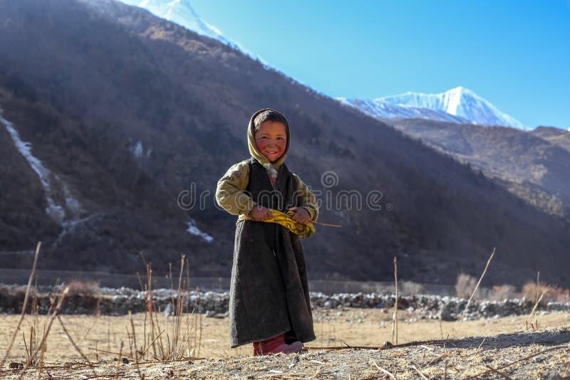Παιδί Sherpa Himalayan στοκ εικόνα
