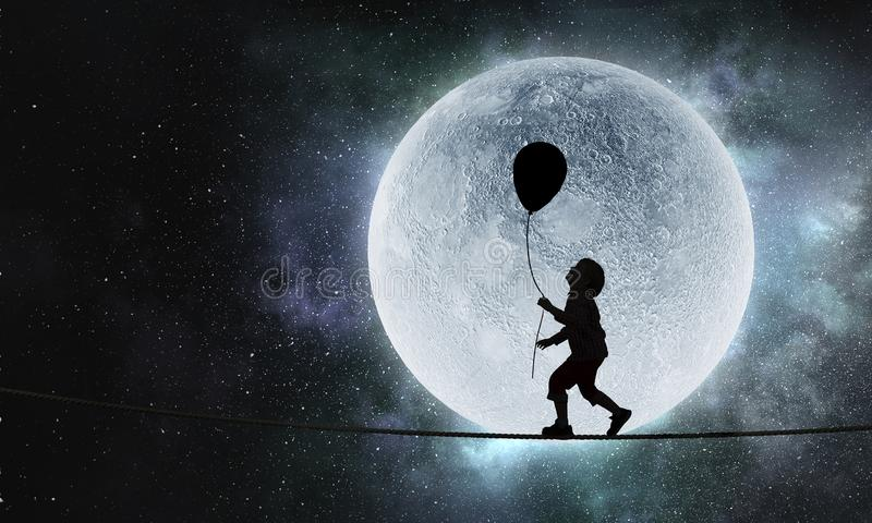 Παιδαριώδη γλυκά όνειρα στοκ εικόνα