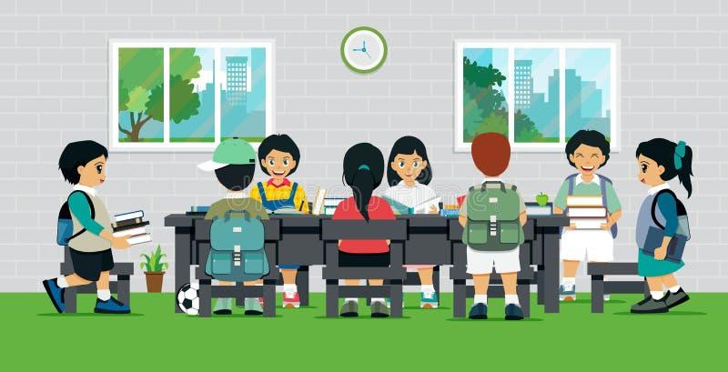 παιδιά βιβλίων απεικόνιση αποθεμάτων