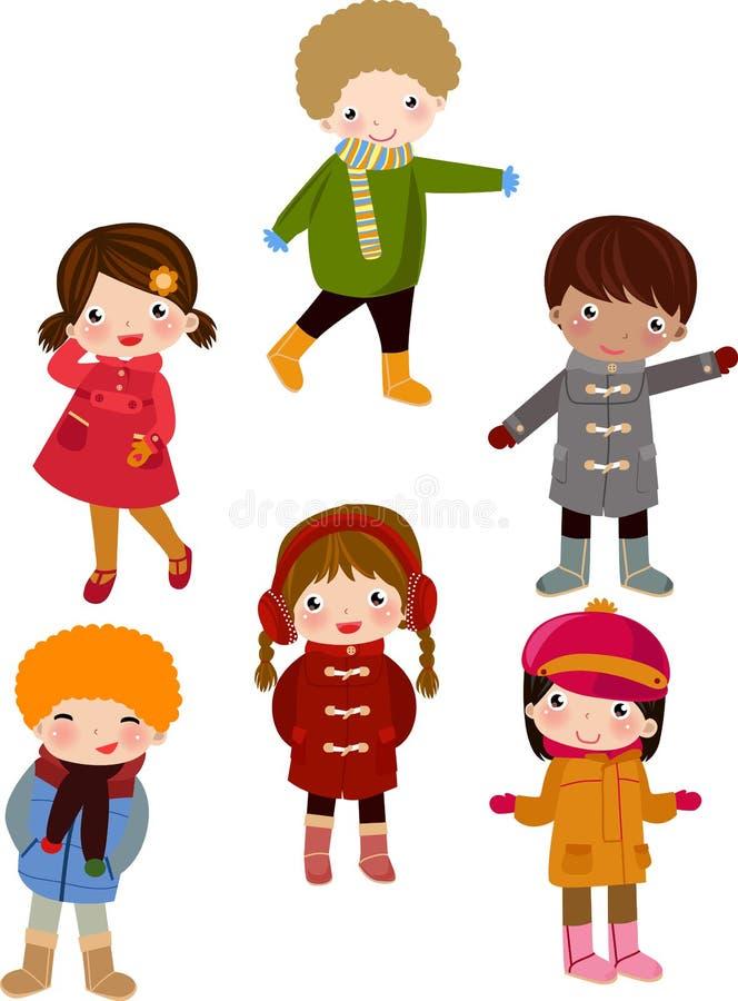 παιδιά ευτυχή διανυσματική απεικόνιση