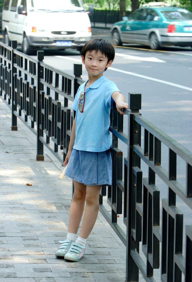παιδιά κινέζικα κοντά στο &del στοκ εικόνες