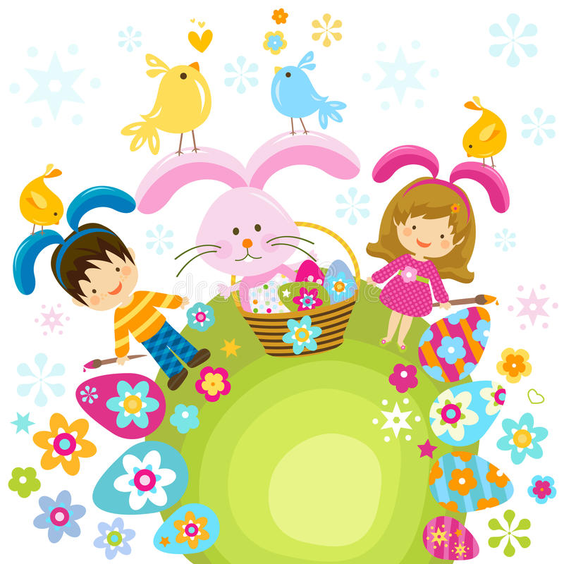 Παιδιά Πάσχας απεικόνιση αποθεμάτων