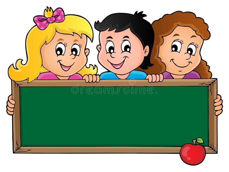 Παιδιά που κρατούν schoolboard το θέμα 1 απεικόνιση αποθεμάτων