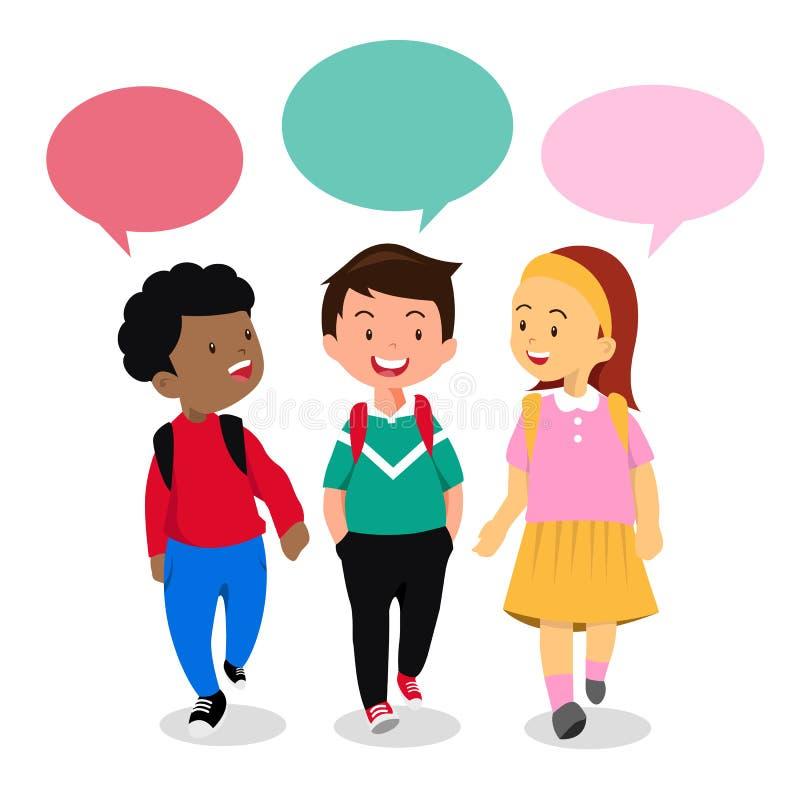 Παιδιά στη συνομιλία διανυσματική απεικόνιση