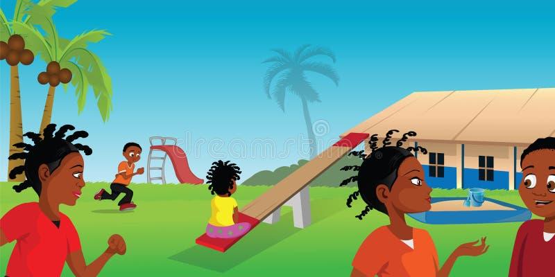 Παιδική χαρά Αφρική διανυσματική απεικόνιση