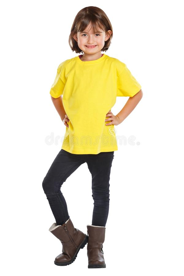 Παιδιών παιδιών μικρών κοριτσιών πορτρέτο σωμάτων που απομονώνεται πλήρες στο λευκό στοκ εικόνες