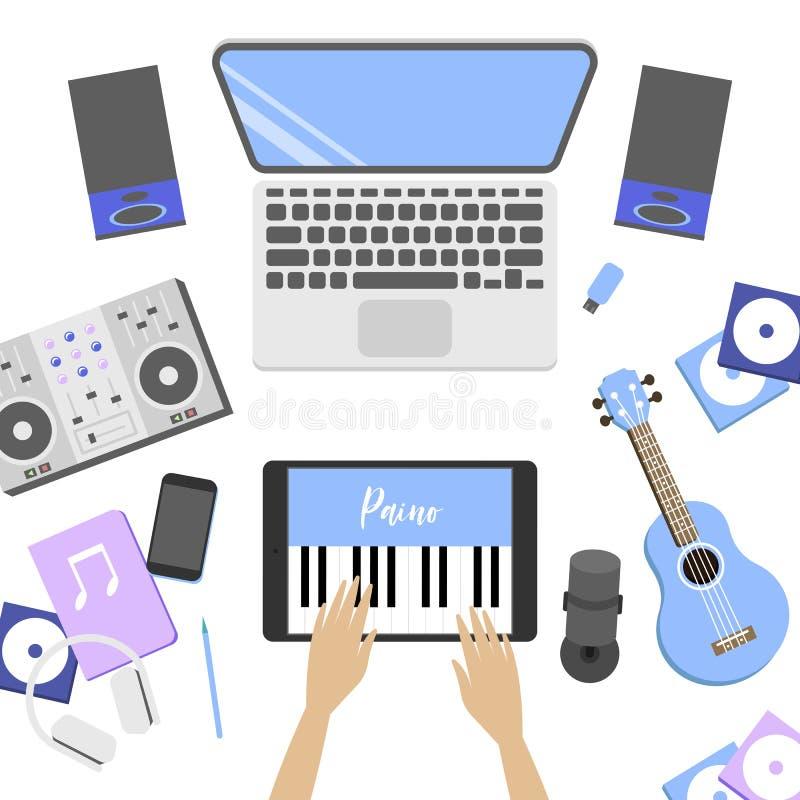 Παιχνίδια αγοριών στην εφαρμογή, ποια μίμηση το πιάνο ελεύθερη απεικόνιση δικαιώματος