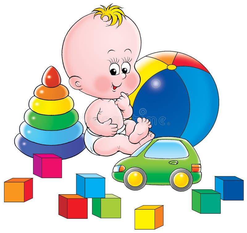 παιχνίδια μωρών ελεύθερη απεικόνιση δικαιώματος