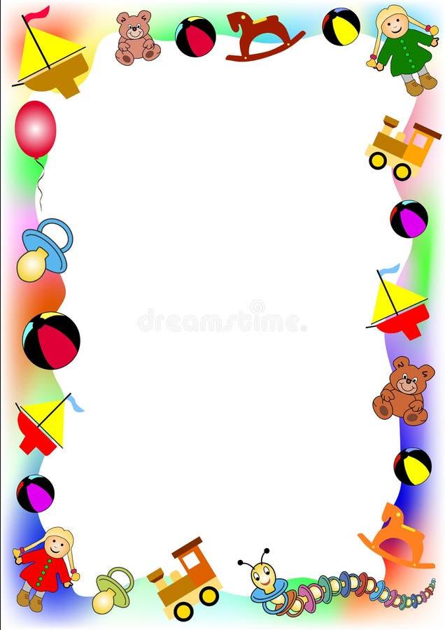 παιχνίδια συνόρων μωρών απεικόνιση αποθεμάτων
