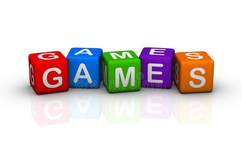 παιχνίδια διανυσματική απεικόνιση