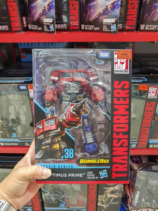 Παιχνίδια Optimus Prime από την ταινία Bumblebee στοκ εικόνα με δικαίωμα ελεύθερης χρήσης