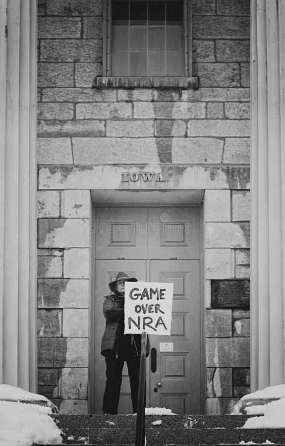 Παιχνίδι άνω της ΕΚΑ - Ιόβα Σίτι 2018 στοκ φωτογραφία με δικαίωμα ελεύθερης χρήσης