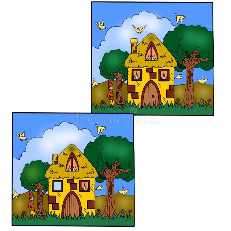 παιχνίδι ένατος διαφορών απεικόνιση αποθεμάτων