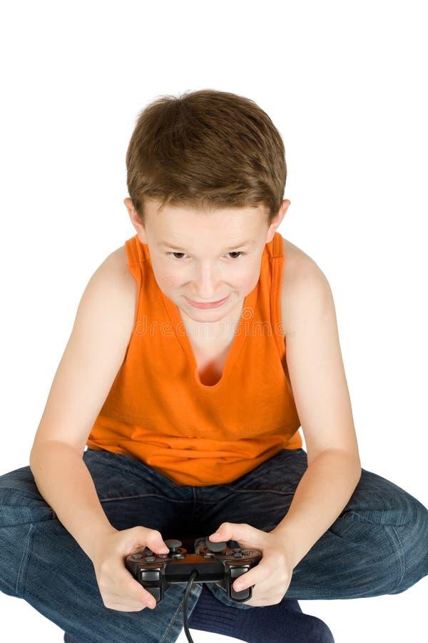 παιχνίδι αγοριών εφηβικό στοκ εικόνα