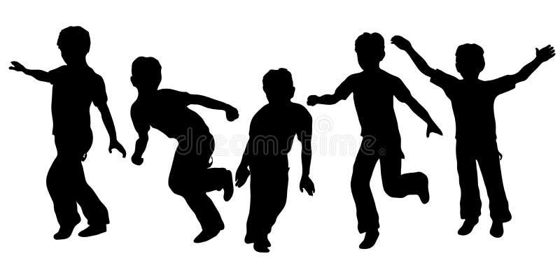 παιχνίδι αγοριών διανυσματική απεικόνιση