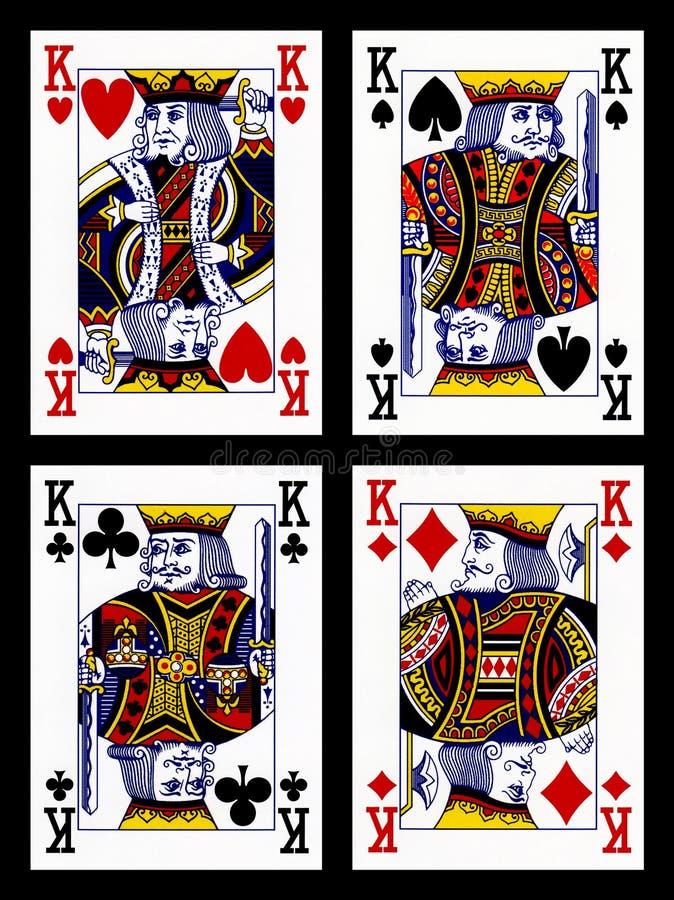 παιχνίδι βασιλιάδων καρτών στοκ εικόνες με δικαίωμα ελεύθερης χρήσης