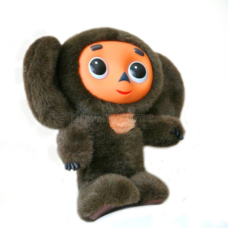 παιχνίδι βελούδου cheburashka στοκ εικόνα