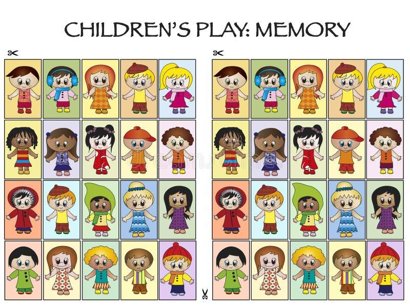 Παιχνίδι για τα παιδιά διανυσματική απεικόνιση