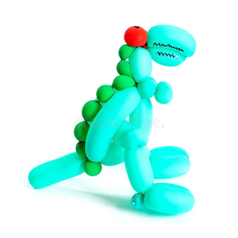 Παιχνίδι δεινοσαύρων που γίνεται από το μπαλόνι στοκ εικόνα