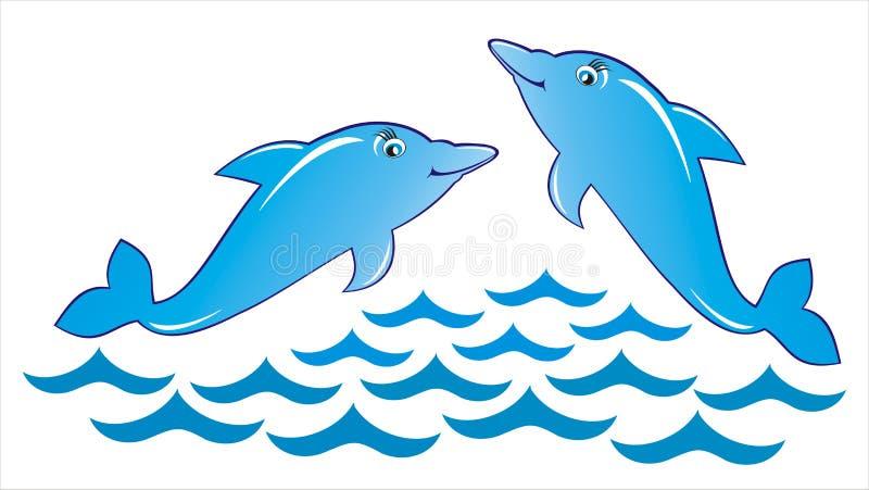παιχνίδι δελφινιών απεικόνιση αποθεμάτων
