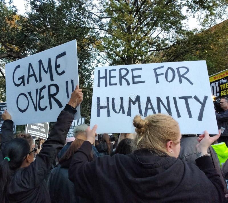 Παιχνίδι, διαμαρτυρία, τετραγωνικό πάρκο της Ουάσιγκτον, NYC, Νέα Υόρκη, ΗΠΑ στοκ φωτογραφία με δικαίωμα ελεύθερης χρήσης