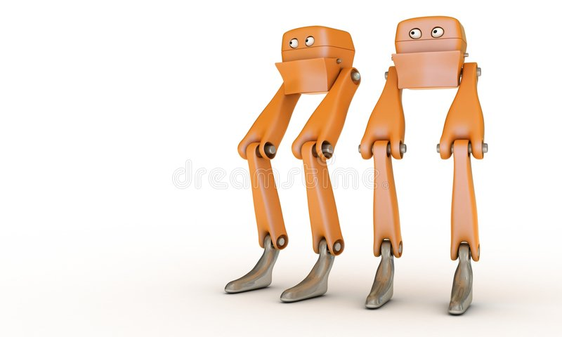 παιχνίδι δύο ρομπότ ελεύθερη απεικόνιση δικαιώματος