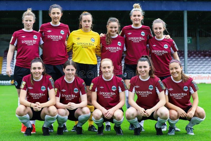 Παιχνίδι Εθνικού Πρωταθλήματος γυναικών: Galway WFC εναντίον Peamount που ενώνεται στοκ φωτογραφίες με δικαίωμα ελεύθερης χρήσης