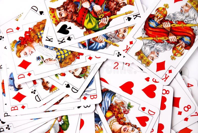 παιχνίδι καρτών διάφορο στοκ εικόνες
