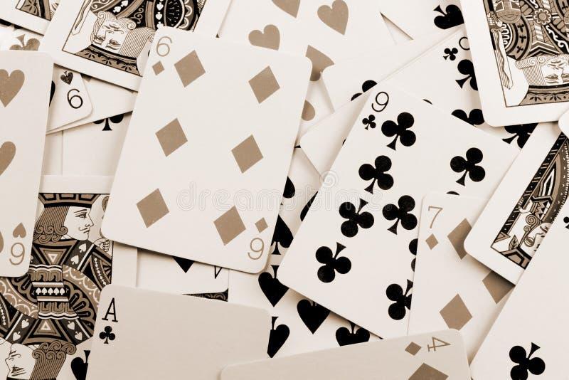 παιχνίδι καρτών διεσπαρμέν&omic στοκ φωτογραφίες με δικαίωμα ελεύθερης χρήσης