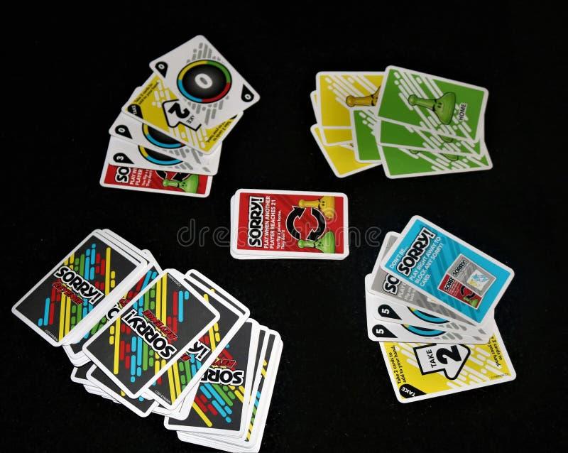 Παιχνίδι καρτών πινάκων θλιβερό! στοκ φωτογραφίες με δικαίωμα ελεύθερης χρήσης