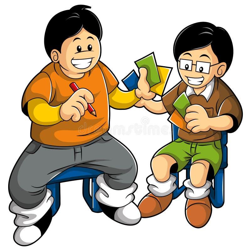 παιχνίδι κατσικιών καρτών ελεύθερη απεικόνιση δικαιώματος