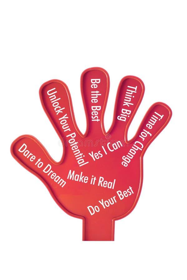 παιχνίδι κινήτρου χεριών στοκ φωτογραφίες με δικαίωμα ελεύθερης χρήσης