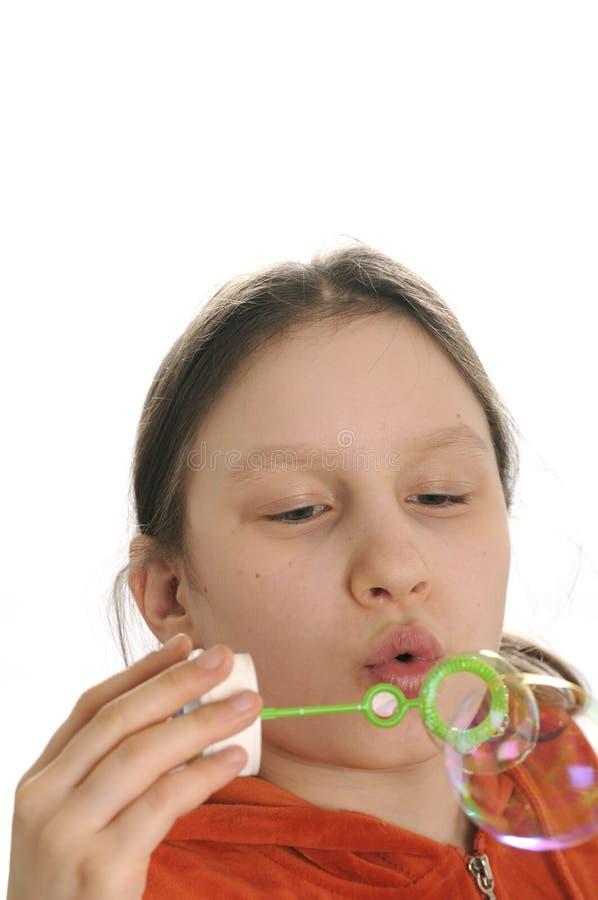 παιχνίδι κοριτσιών φυσαλί& Στοκ Εικόνα