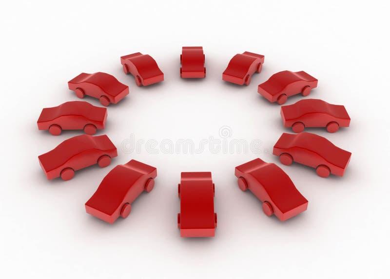 παιχνίδι κύκλων αυτοκινήτων ελεύθερη απεικόνιση δικαιώματος
