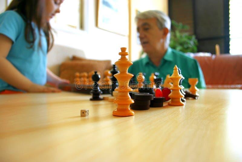 παιχνίδι σκακιού στοκ εικόνες