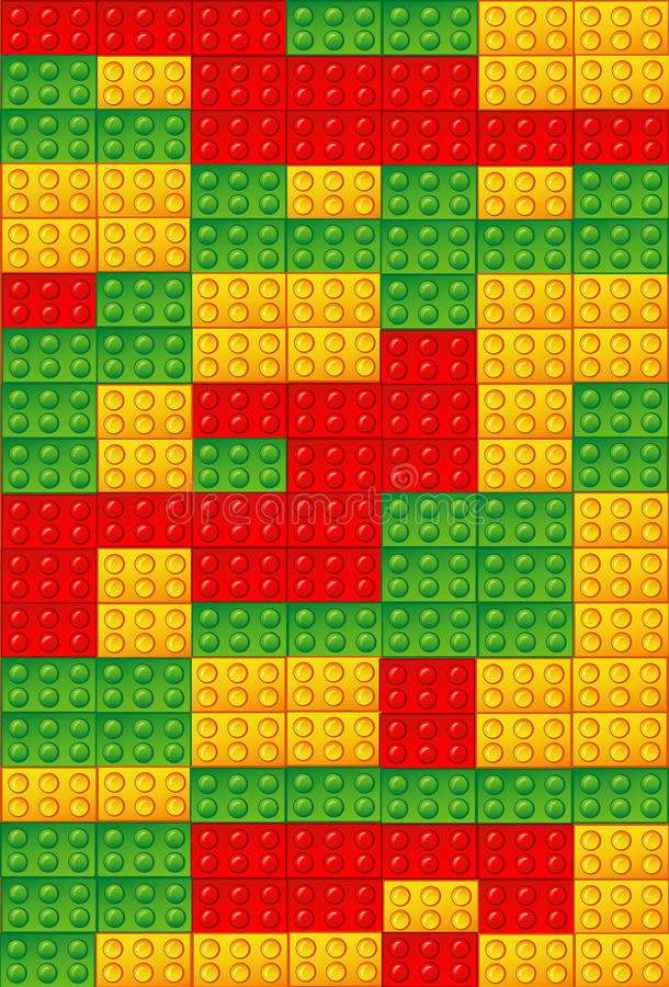παιχνίδι τούβλων ανασκόπη&sigma διανυσματική απεικόνιση