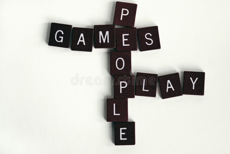 παιχνίδι 2 ανθρώπων παιχνιδιώ& στοκ εικόνες