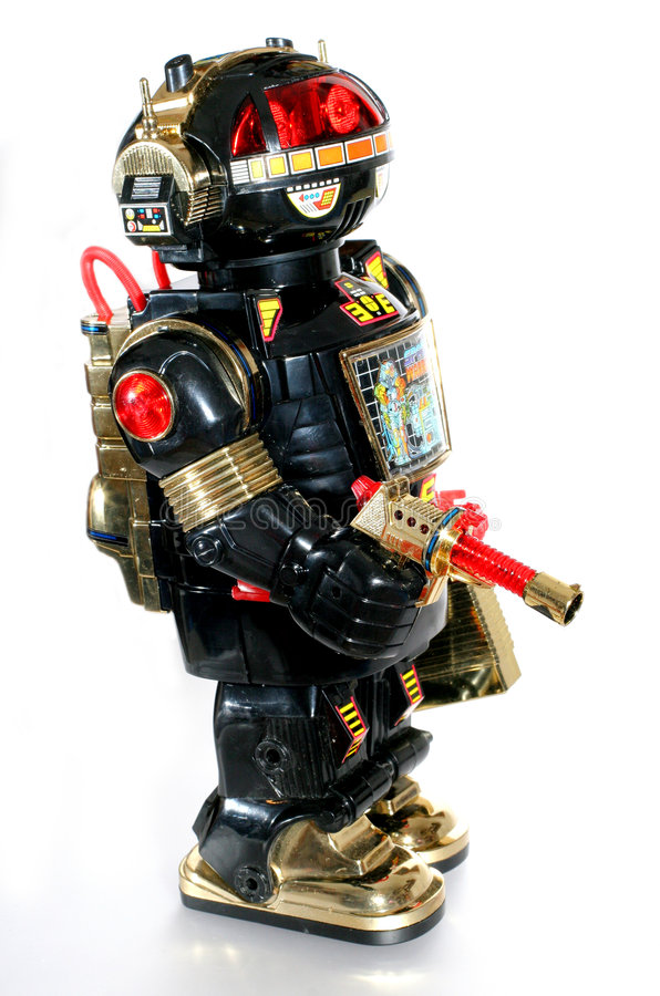 παιχνίδι 2 ρομπότ στοκ εικόνα με δικαίωμα ελεύθερης χρήσης