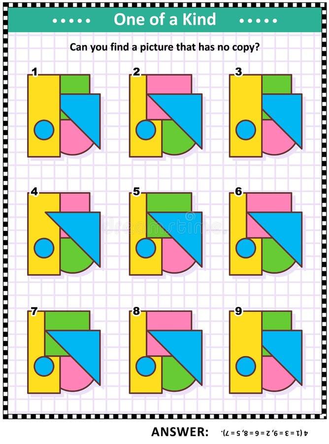 Παιχνίδι Math με τις βασικές μορφές - τρίγωνο, ορθογώνιο, κύκλος, τετράγωνο απεικόνιση αποθεμάτων