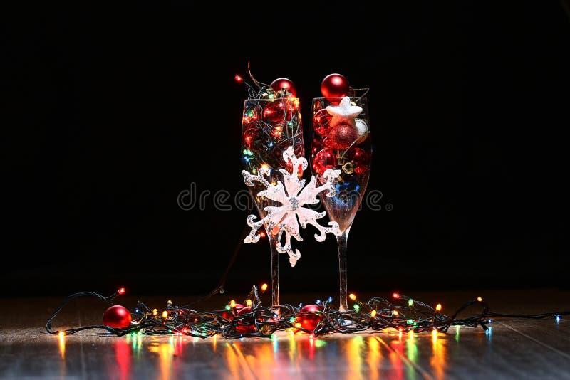 Παιχνίδια και διακοσμήσεις του νέου έτους στοκ εικόνες