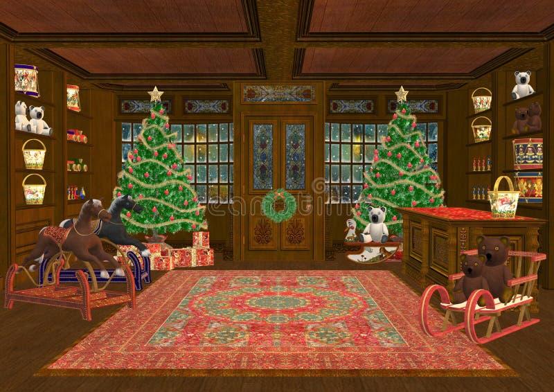 Παιχνίδια Χριστουγέννων διανυσματική απεικόνιση