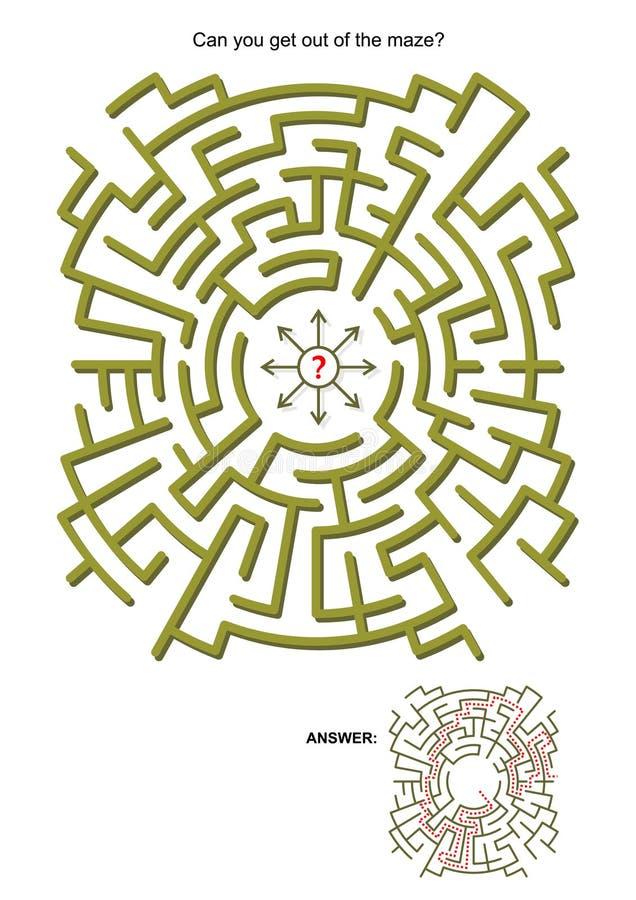 Παιχνίδι λαβυρίνθου απεικόνιση αποθεμάτων