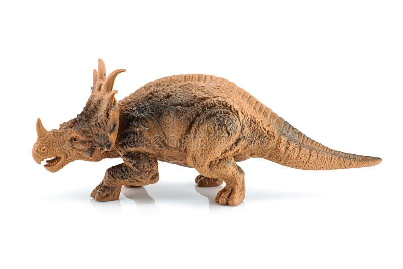 Παιχνίδι αριθμού δεινοσαύρων Styracosaurus που απομονώνεται στο λευκό στοκ εικόνα με δικαίωμα ελεύθερης χρήσης