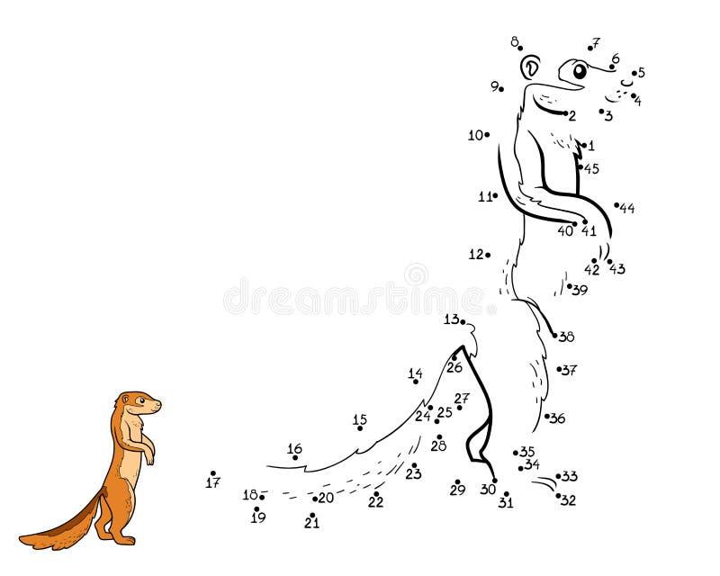 Παιχνίδι αριθμών, παιχνίδι για τα παιδιά (επίγειος σκίουρος, xerus) ελεύθερη απεικόνιση δικαιώματος