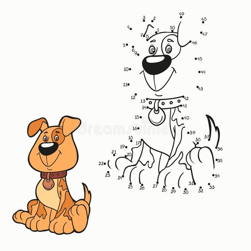 Παιχνίδι αριθμών (σκυλί) απεικόνιση αποθεμάτων